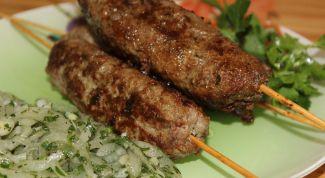 Как приготовить люля-кебаб из говядины на сковороде