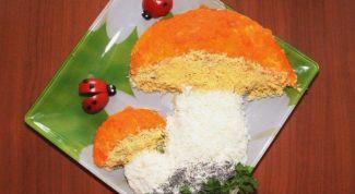 Как приготовить слоеный салат «Грибочек»