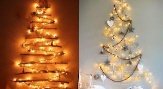 Как украсить стену гирляндой на Новый год