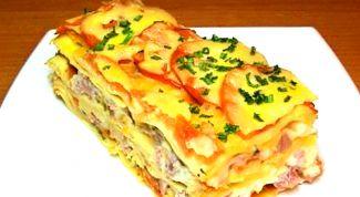 Как приготовить лазанью с ветчиной и сыром