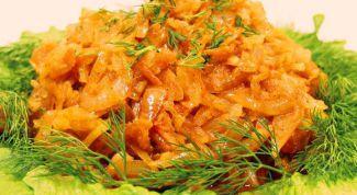 Как приготовить тушеную капусту с тыквой и морковью