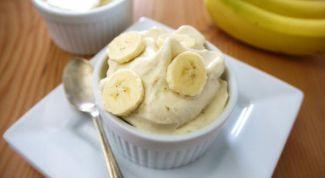 Как приготовить диетическое мороженое из банана
