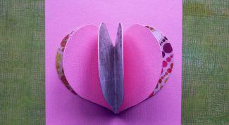 Как сделать валентинку с объемным сердцем