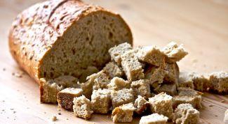 Как использовать засохший хлеб
