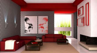 Красный цвет в дизайне интерьера