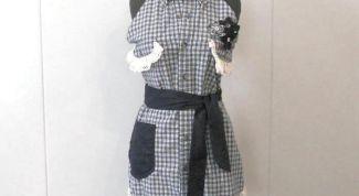 Шьем кухонный фартук из мужской рубашки