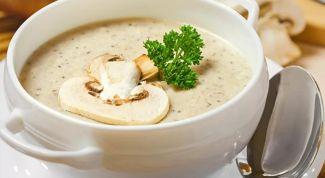 Как приготовить постный суп-пюре с шампиньонами