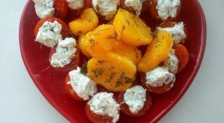 Как сделать запеченный картофель с травами и закуску из помидоров черри