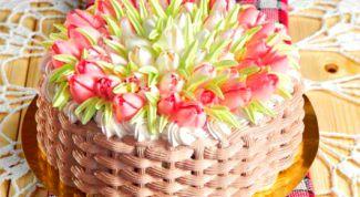 Как сделать торт «Тюльпаны»