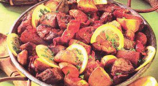 Как просто приготовить мясо с лимоном
