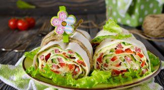 Как приготовить овощной рулет из лаваша