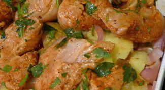 Как приготовить филе индейки с картошкой в духовке