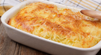 Как приготовить запеканку со спагетти и мясом