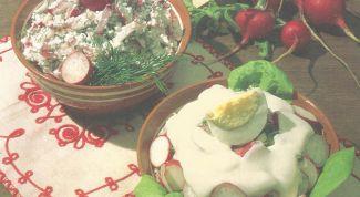 Как просто приготовить салаты из редиса
