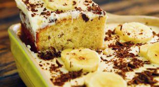 Как приготовить легкий банановый пирог