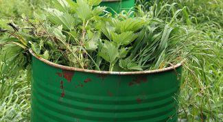 Как приготовить удобрение из травы