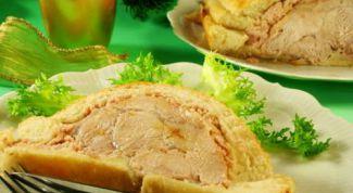 Как запечь свинину в тесте