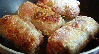 Как приготовить завернутые зразы из мяса сайги