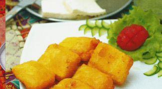 Как просто приготовить сыр в мятном кляре