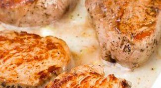 Как пожарить мясо со сливками