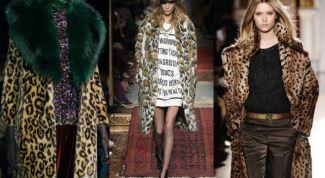 Как стильно носить леопардовую шубу
