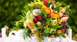 Как сделать букет из фруктов и овощей своими руками