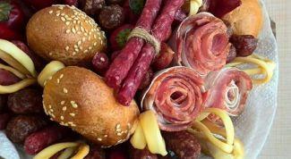 Как сделать букет из колбасы и сыра своими руками