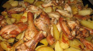 Как вкусно приготовить куриные ножки с картошкой в духовке