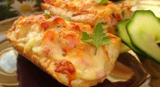 Как приготовить горячие бутерброды с ветчиной и сыром