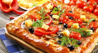 Как приготовить пиццу на жидком тесте на кефире без дрожжей