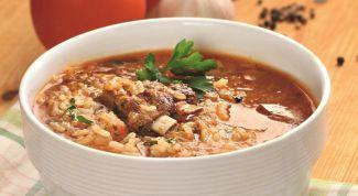 """""""Харчо"""" с рисом - очень сытное блюдо"""