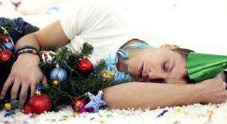 Как быстро избавиться от похмелья после праздников