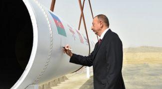 Азербайджан открыл газопровод в Европу
