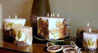 Как сделать новогодние свечи своими руками