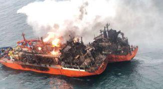 Сколько человек погибло  при пожаре в Керченском проливе