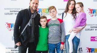 Оскар Кучера с женой и детьми: фото