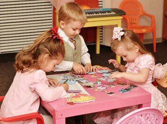 Communication of children in kindergarten