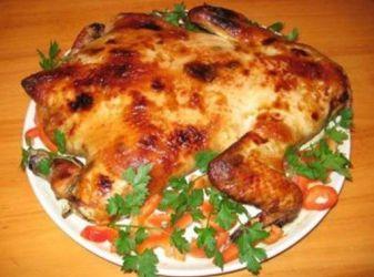Как приготовить фаршированную рисом курицу в духовке