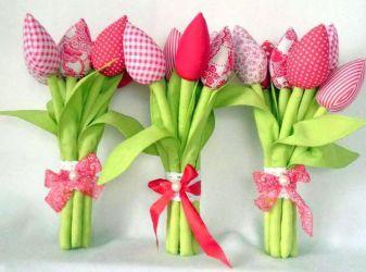 Как сшить тюльпан в стиле тильда