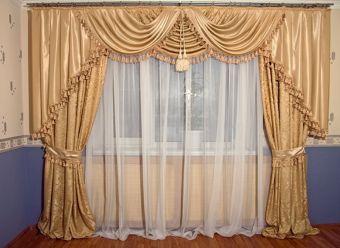 Как украсить шторы
