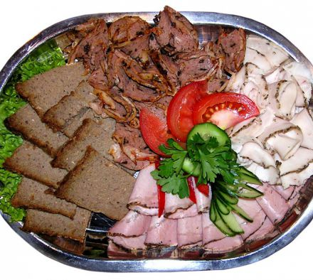How to put cold cuts beautifully