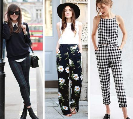 С чем носить принтованные брюки