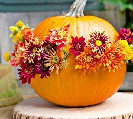 Осенние поделки из декоративной тыквы