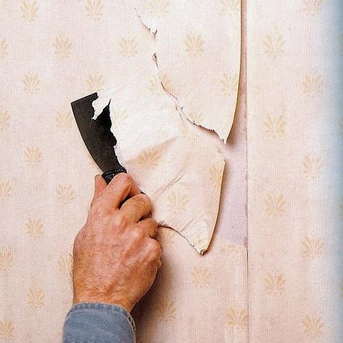 Как удалить побелку со стен