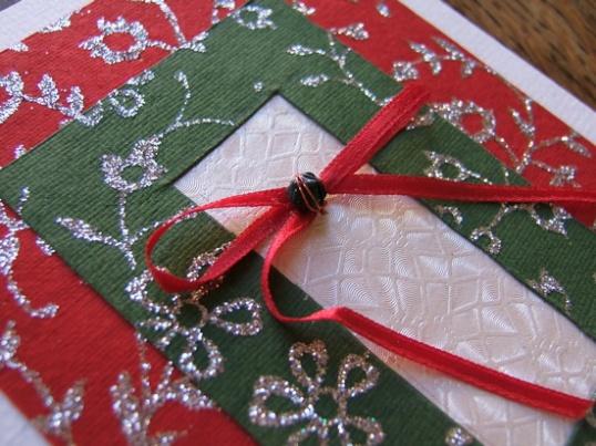 Сделать своими руками открытку с рождеством