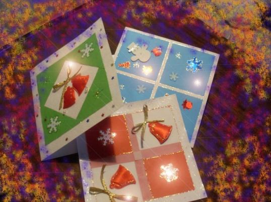 Как оформить открытку на новый год своими
