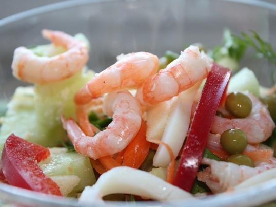 Рецепты приготовления креветок и кальмаров рецепт
