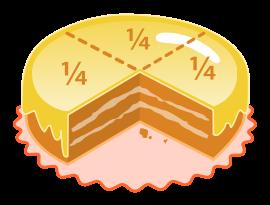 Дробь представляет собой выражение части целого числа.