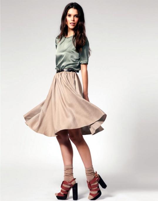 Как рассчитать ткань на юбку полусолнце