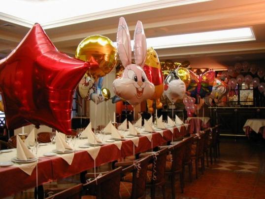 Как украсить зал на день рождения